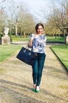 green joggers H&M pants - neutral H&M top