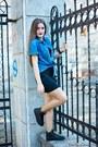 Black-h-m-divided-dress-blue-logg-shirt