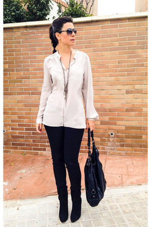 Kenneth Cole bag - calvin klein necklace - H&M blouse