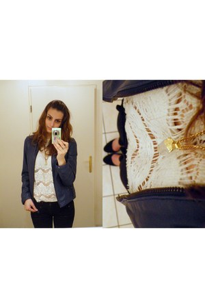 Zara blouse - Naf Naf vest