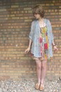 Bubble-gum-patchwork-forever-21-dress-camel-thrifted-sandals
