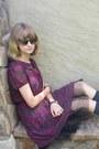 Black-soda-shoes-magenta-forever-21-dress-charcoal-gray-target-socks