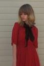 Black-ollio-shoes-red-forever-21-dress-sky-blue-sock-it-to-me-socks