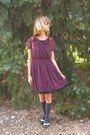 Black-soda-shoes-magenta-forever-21-dress-charcoal-gray-target-socks