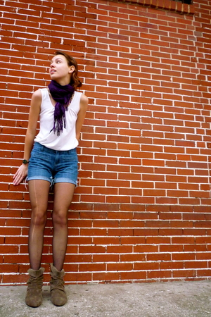 black Leggs stockings - blue Old Navy jeans - white Kimichi Blue blouse - purple