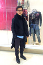 Black-sisley-boots-light-blue-h-m-shirt-black-uniqlo-socks