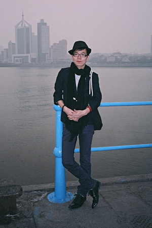 black H&M hat - black Zara shoes - purple Uniqlo jeans - black 5cm blazer