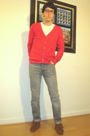 American Apparel top - t-shirt - Cheap Monday jeans - Minnetonka shoes