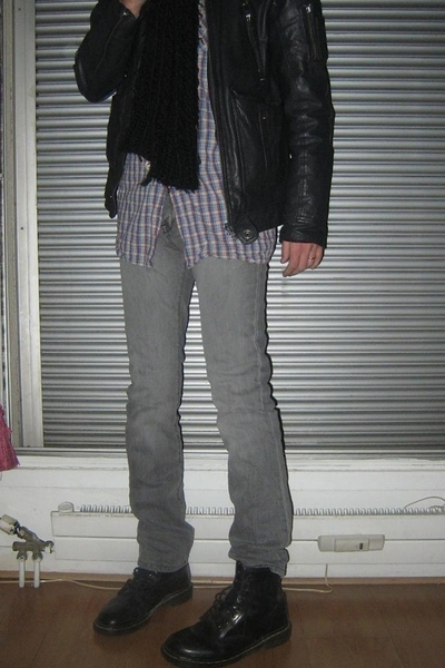 Zara jeans - pull&bear jacket - Dr Martens shoes - Diesel scarf