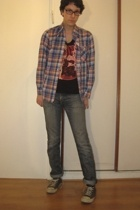 Zara t-shirt - Levis jeans - Secondhand shirt - Converse shoes