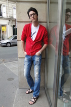 American Apparel top - Zara jeans - Kurt Geiger shoes - American Apparel t-shirt