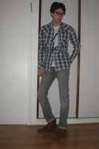 Levis shirt - Cheap Monday jeans - Minnetonka boots - American Apparel t-shirt