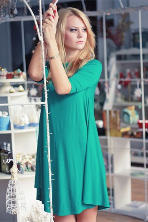 turquoise blue TheITem dress