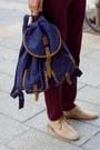 Bronze-h-m-blazer-dark-khaki-ankle-boots-vintage-boots