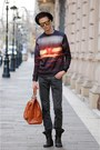 Tawny-choies-sweater-carrot-orange-benzol-bag-bag-gold-choies-sunglasses