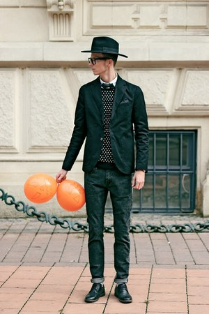 black SPF shoes - black SPF jeans - black SPF blazer
