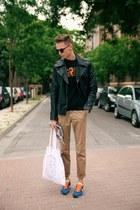 black H&M jacket - blue Zara sneakers