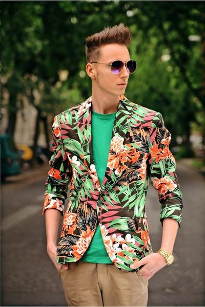 Zara blazer - H&M t-shirt