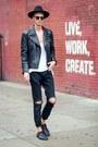 Black-derby-shoes-shoes-black-ripped-jeans-vintage-jeans
