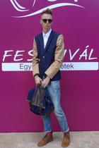 H&M blazer - H&M boots - Zara jeans