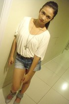 Forever 21 top - Forever 21 shorts - janilyn flats - Zoo Shop ring - Forever 21