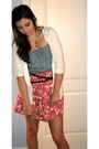 Old-navy-cardigan-denim-romper-floral-skirt-belt