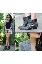 Chloe boots - armani blazer - Chanel bag