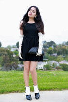 Chanel boots - Forever 21 dress - Chanel bag - Diane Von Furstenberg gloves