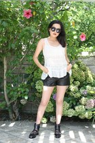 balenciaga shoes - Alexander Wang shorts - Forever 21 top