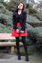 Celine bag - Giorgio Armani jacket - Prada heels - Topshop skirt - Bally belt