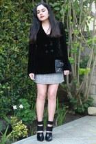 Forever 21 skirt - Alexander Wang boots - Giorgio Armani jacket - balenciaga bag