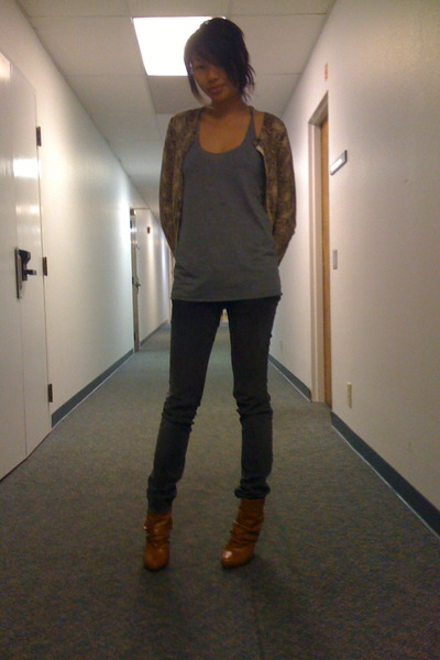 Express blouse - American Apparel shirt - Levis jeans - Forever21 boots