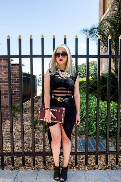 Forever 21 skirt - sheer stripe Forever 21 top