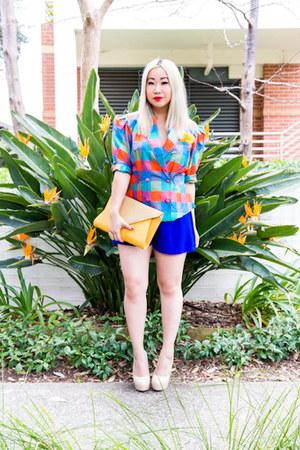 clutch Colette bag - SUPRÉ shorts - platform amiclubwearcom heels