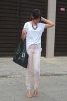 white Make  Model shirt - light pink Forever21 jeans