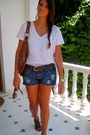 Blue-bershka-shorts-brown-asos-bag-brown-stdr-shoes-white-zara-shirt