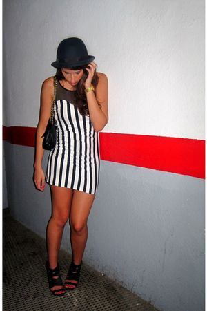 black H&M dress - black Zara shoes - gray Zara hat - black BLANCO bag