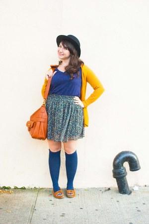 Forever 21 shirt - Sock Dreams socks - Forever 21 skirt - Minnetonka loafers