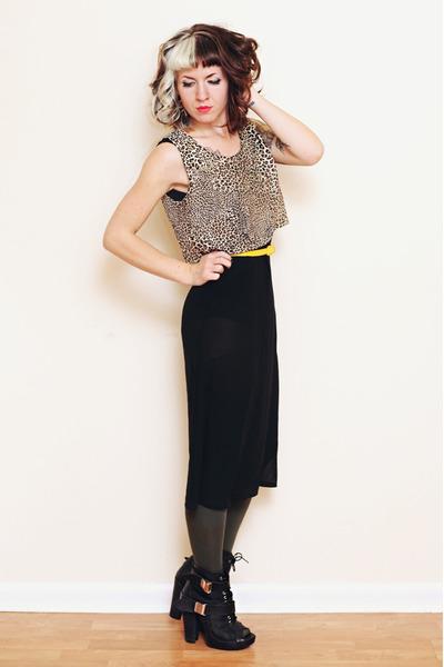 black Miista boots - black sheer The Local Firm dress