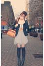 Black-forever-21-blazer-tawny-liz-clairborne-purse