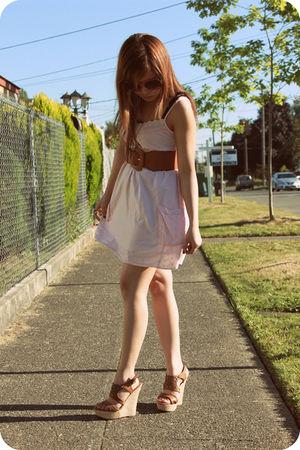 beige Heritage dress - beige Paprika shoes - brown Forever21 belt