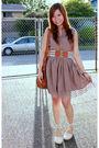 Brown-forever21-dress-brown-forever21-belt