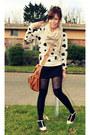 Cream-forever-21-sweater-black-forever-21-stockings