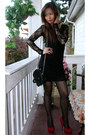 Black-forever-21-dress-black-forever-21-blazer-black-h-m-dress