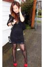 Black-forever-21-dress-black-forever-21-blazer-black-h-m-dress