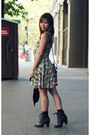 Pink-heritage-1981-dress-black-boots-brown-forever21-purse