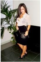 Dotti blouse - scanlan & theodore skirt - asos purse - asos accessories