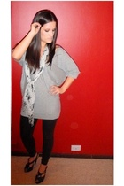 Valley Girl top - american apparel lame eel tights - boutique scarf - Sachi shoe