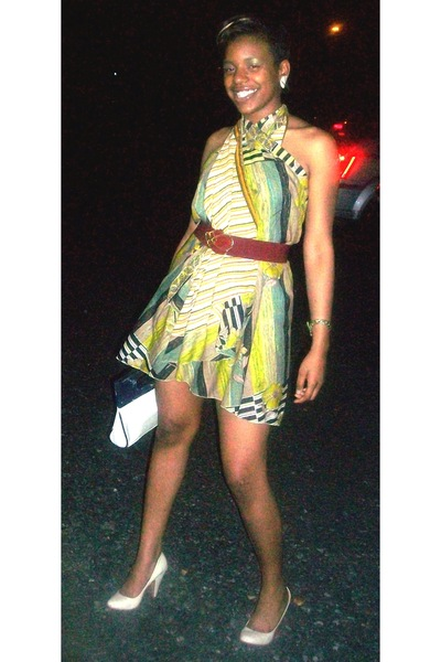 Irish Wrap dress - vintage belt - Forever21 shoes