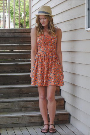 peach Target dress - brown Old Navy sandals